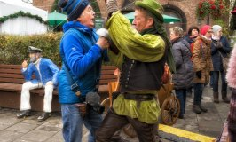 Fighting a Pirate at the Cologne Harbour Christmas Market