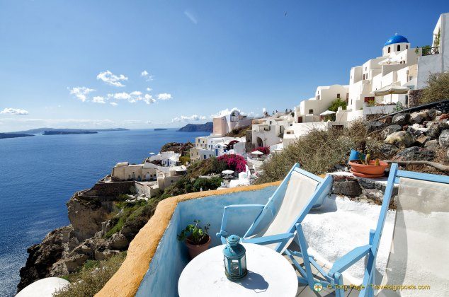 Views of the Caldera and Aegean Sea