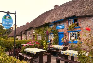 The quaint looking Blue Door Restaurant