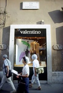 Valentino on Condotti, Rome