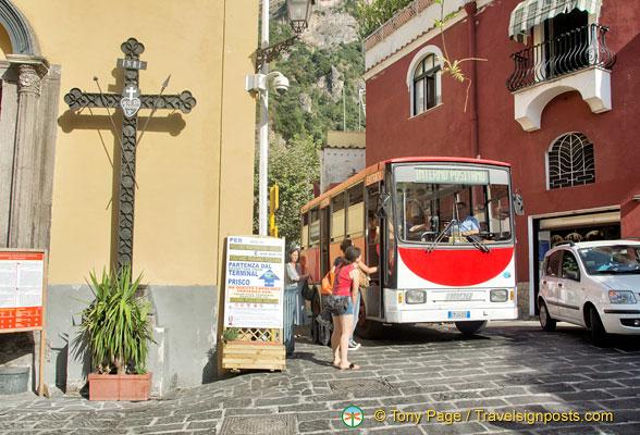 Positano by Bus
