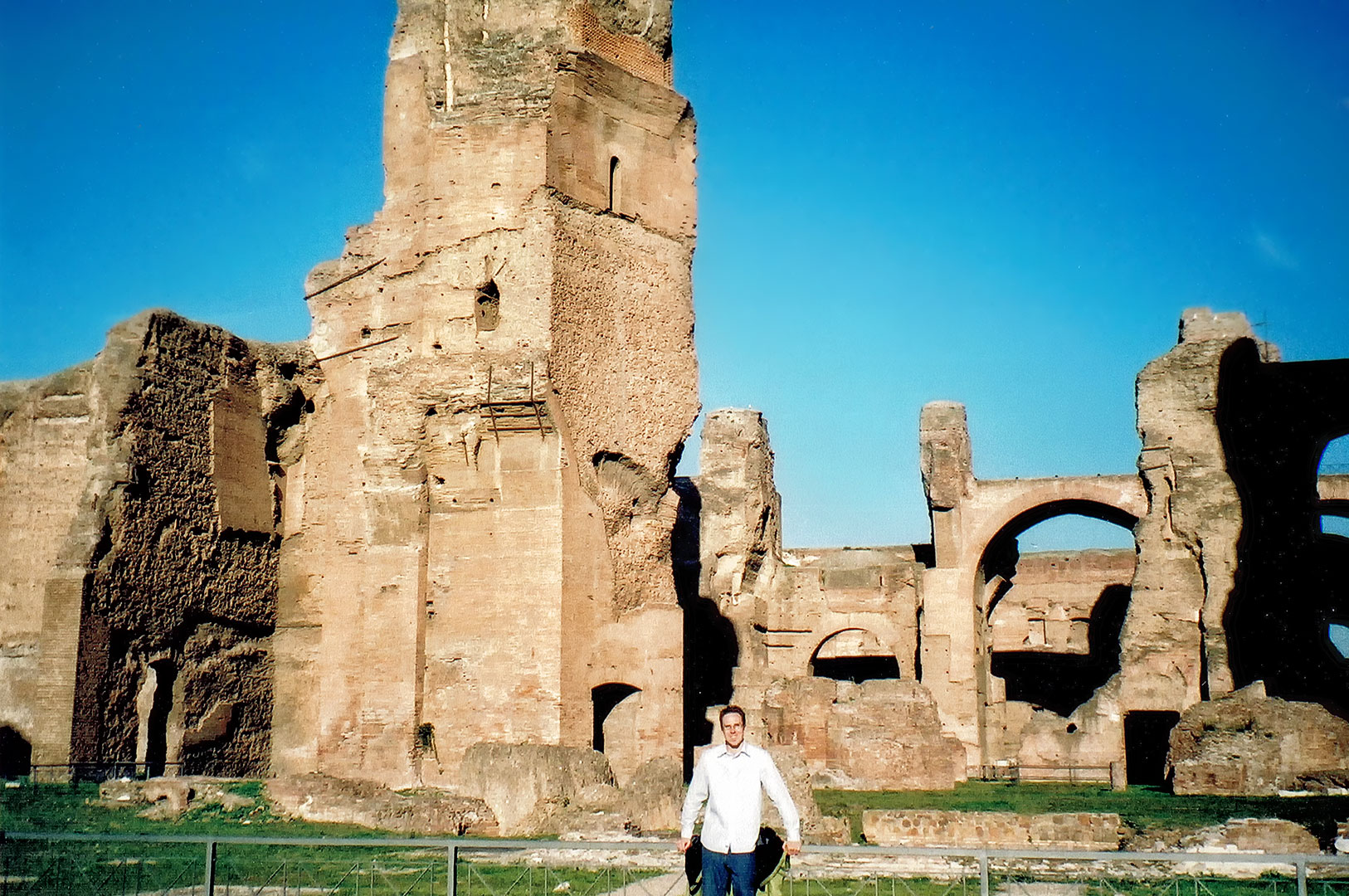 vagabonds and poets at the baths of caracalla in rome. Black Bedroom Furniture Sets. Home Design Ideas