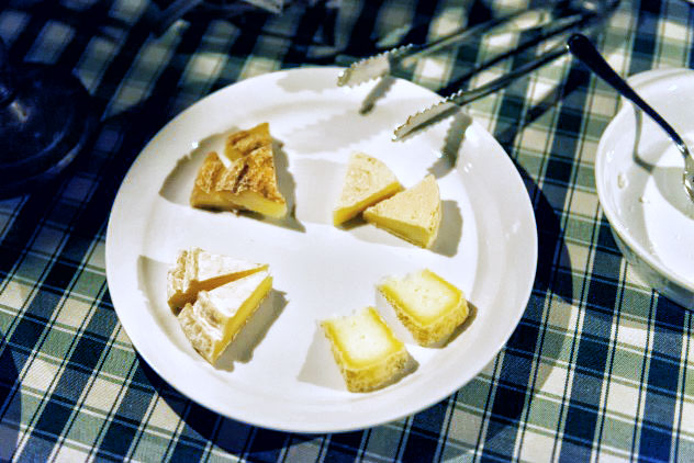 Silvio's cheese tasting plate: four different cheeses