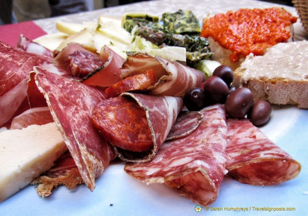 A typical antipasto