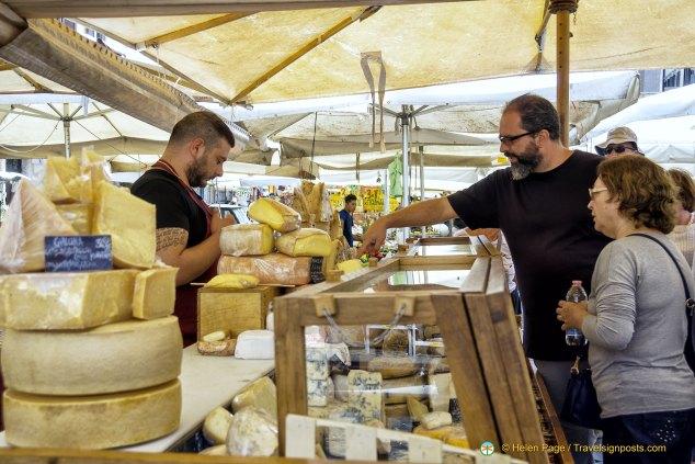 Campo de' Fiori cheese stall