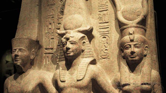 Ramesses II with Amun & Hathor