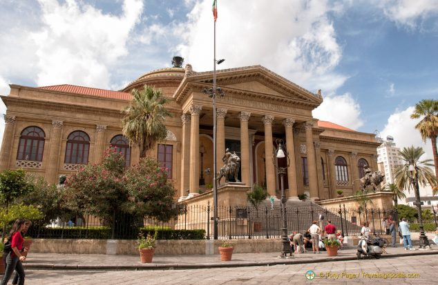 The Teatro Massimo is the largest opera house in Italy
