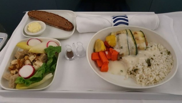 Finnair Fish Dinner