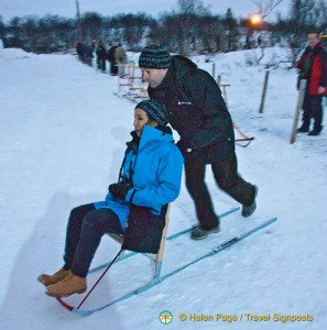 Kicksledding in Kirkenes, Norway..