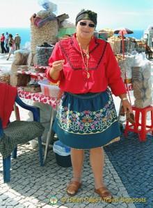 Nut seller in traditional gear
