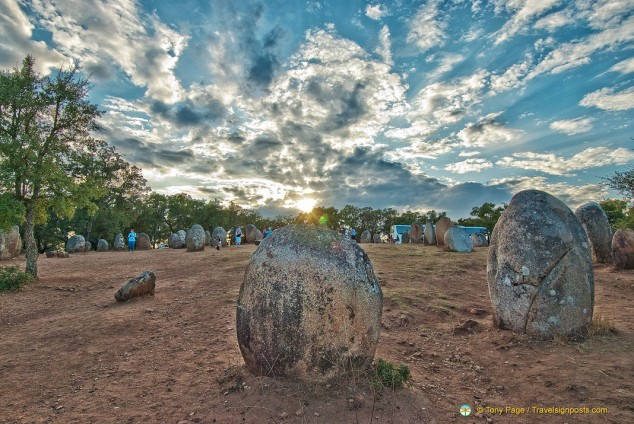 The mysterious Almendres Cromlech, Portugal