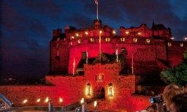 Edinburgh Castle all fired up for the Edinburgh Military Tattoo