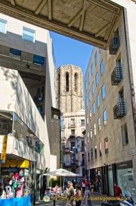 Santa Maria del Pi Tower - Barcelona