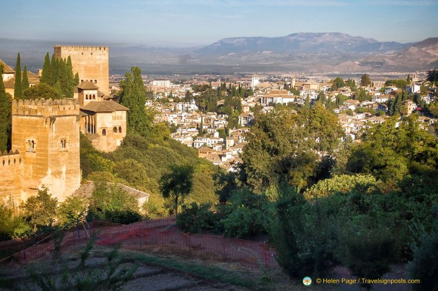 The Albaicin district and Alhambra from the Generalife