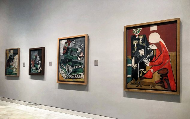 "Picasso's deconstructed Cubist version of Velázquez's ""Las Meninas"", the painting he studied for many years."