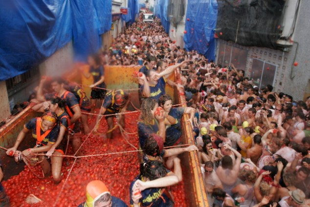 La Tomatina - don't wear your Sunday best!