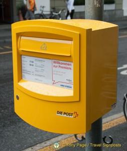 Mailbox in Interlaken