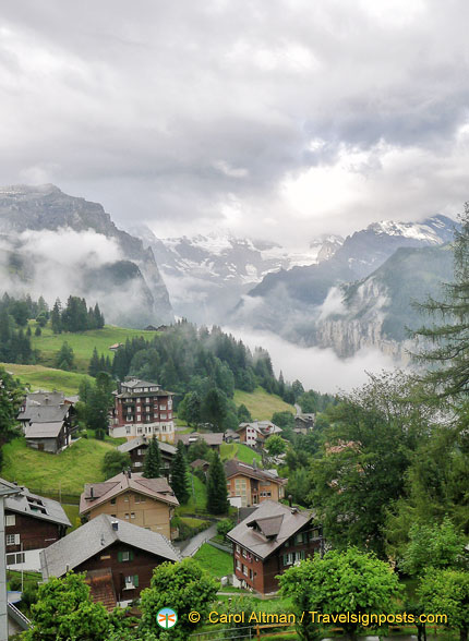 Arriving in Wengen, the Valley of Waterfalls