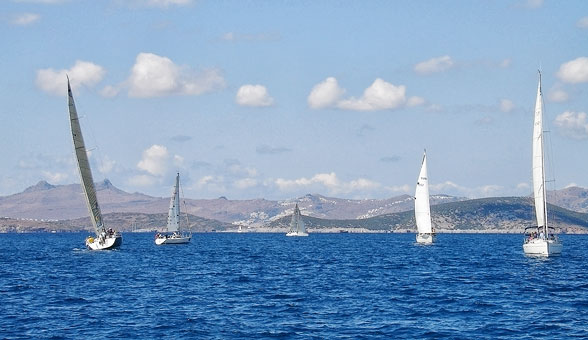 Sailing in Bodrum Bay
