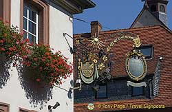 Hotel sign in Miltenberg, Germany