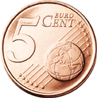 5 cent coin (front)