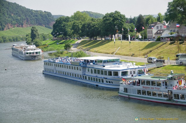 Riverboats in Trier