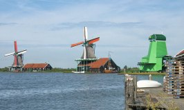 Zaanse Schans and its famous windmills