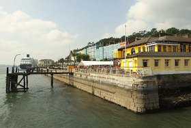 Cobh and the yellow Titanic Bar