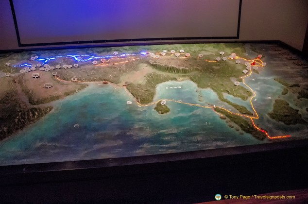 Model of Silk Road Route