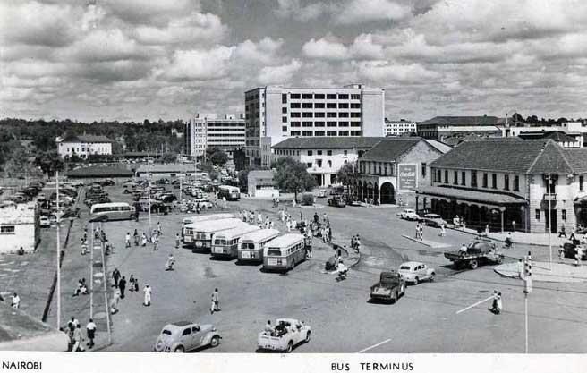 Bus-Terminus--1950s, Nairobi
