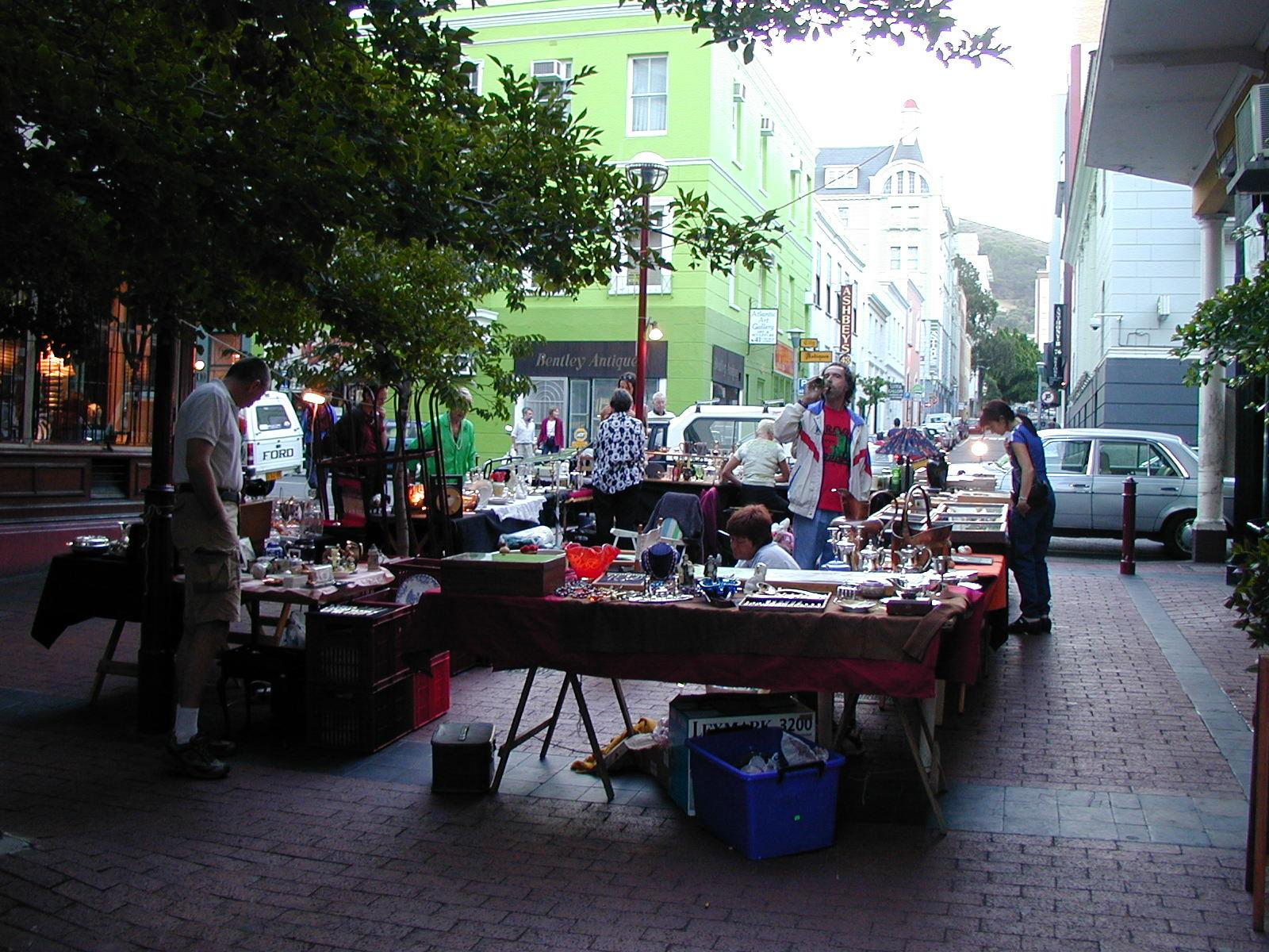 Church Street Antique Market on Church Street, Cape Town.