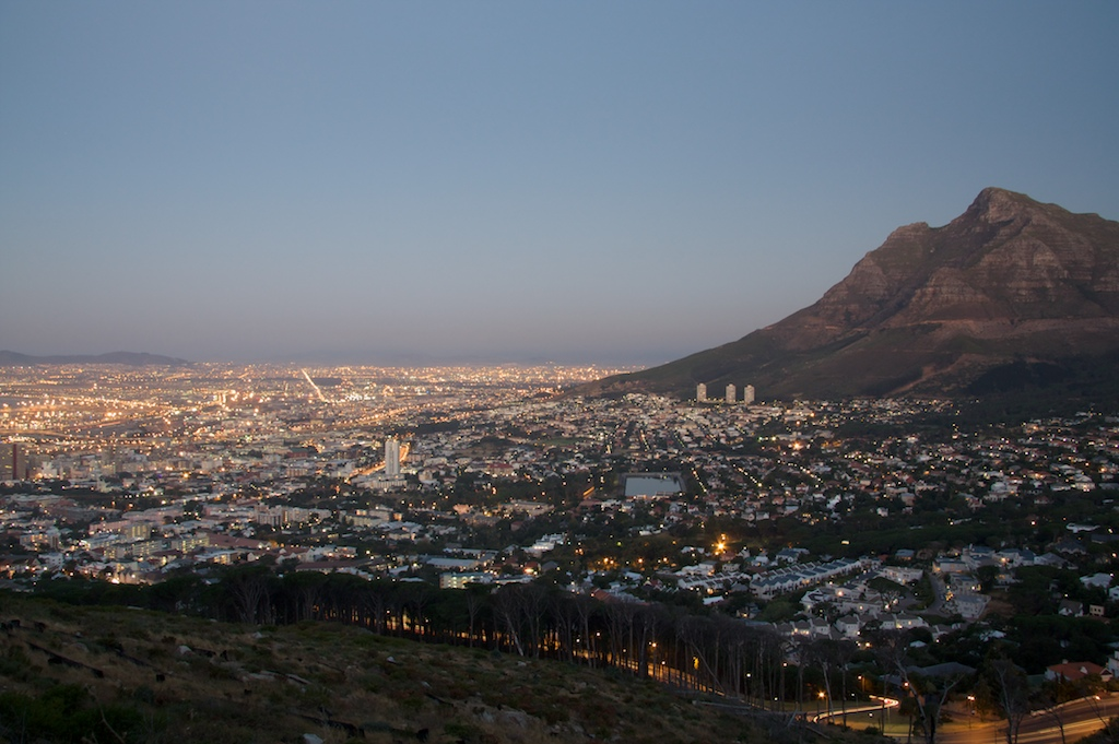 The view from Signal Hill at dusk.