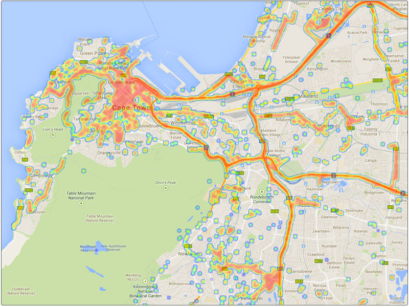 Cell Phone Network Coverage Maps - Cell phone network coverage map