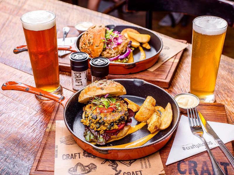 beer burger tray