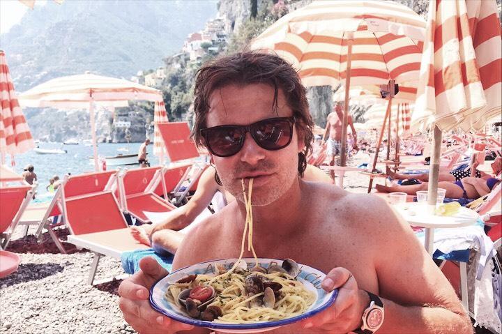 Pasta in Positano Eating in Italy