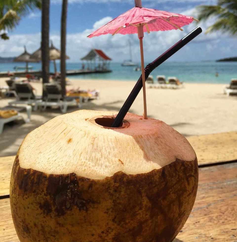 coconut cocktail mauritius