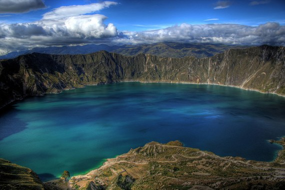 Lake Quilotoa in Ecuador by Kevin Labianco