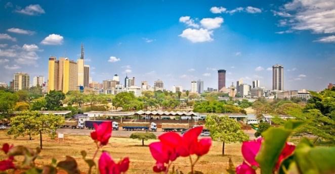 Panoramic view on Nairobi , Kenya. Africa.