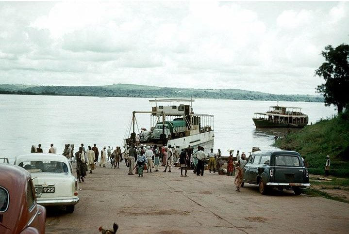 Asaba-Onitsha ferry crossing 1959