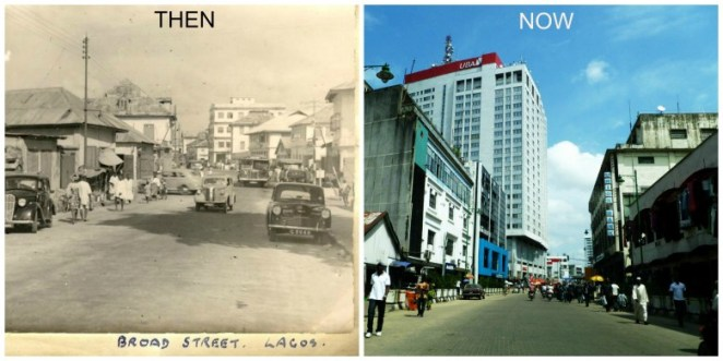 Broad Street Lagos - Now-&-Then