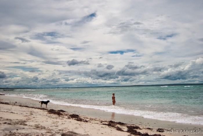 In spiaggia a Pemba
