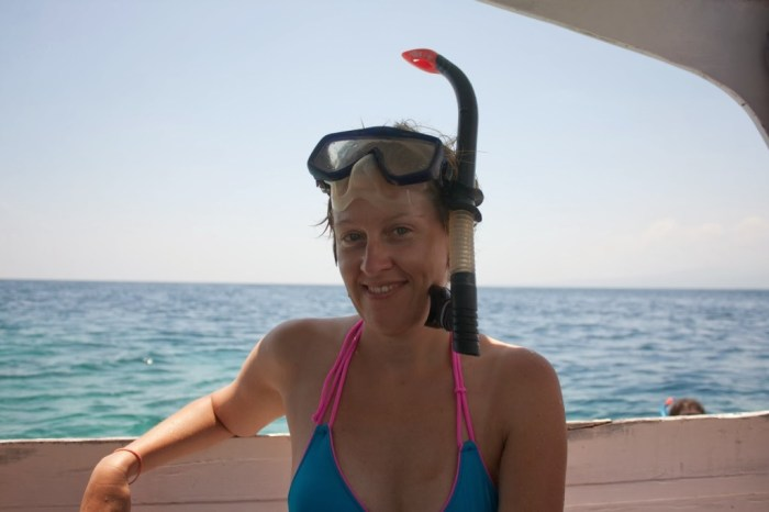 Eccomi pronta per una sessione di snorkeling alle Gili!