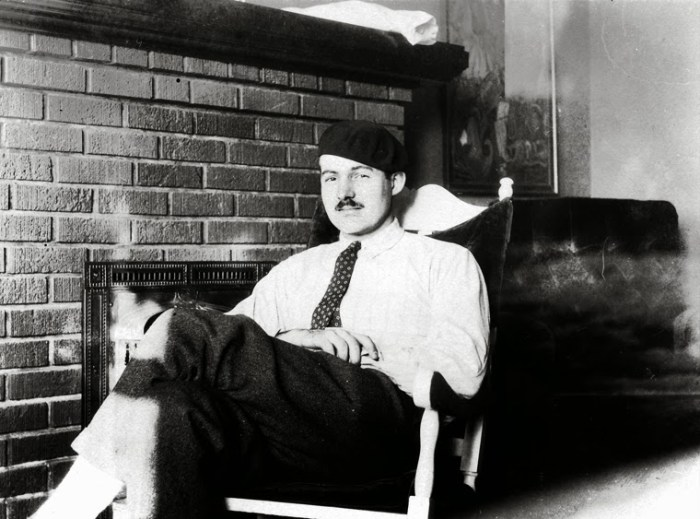 Hemingway a Parigi nel 1924