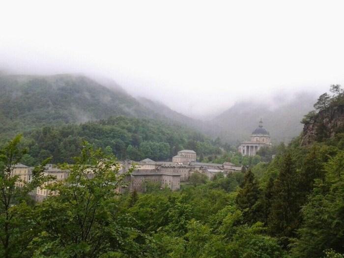 Vista sul Santuario di Oropa