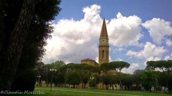 Il parco tra il Duomo e la Fortezza Medicea