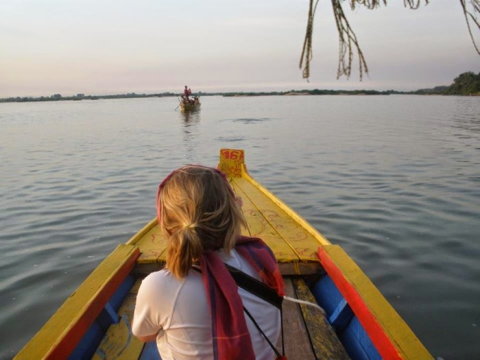 In barca sul Mekong, Cambogia