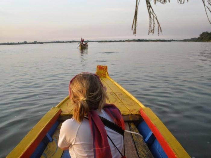 Io in navigazione sul Mekong, in Cambogia, nel 2012