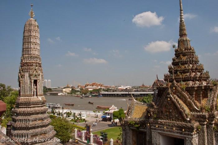 La meravigliosa vista su Bangkok dal Wat Arun