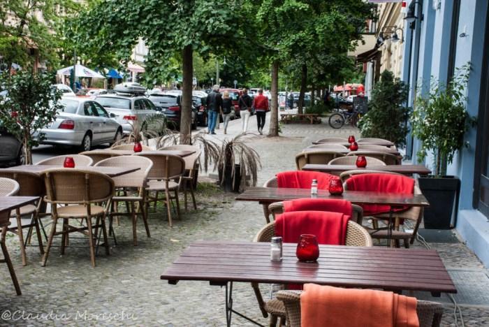 Prenzlauer Berg è pieno di caffè e ristoranti all'aperto
