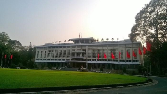 L'ingresso del Palazzo della Riunificazione